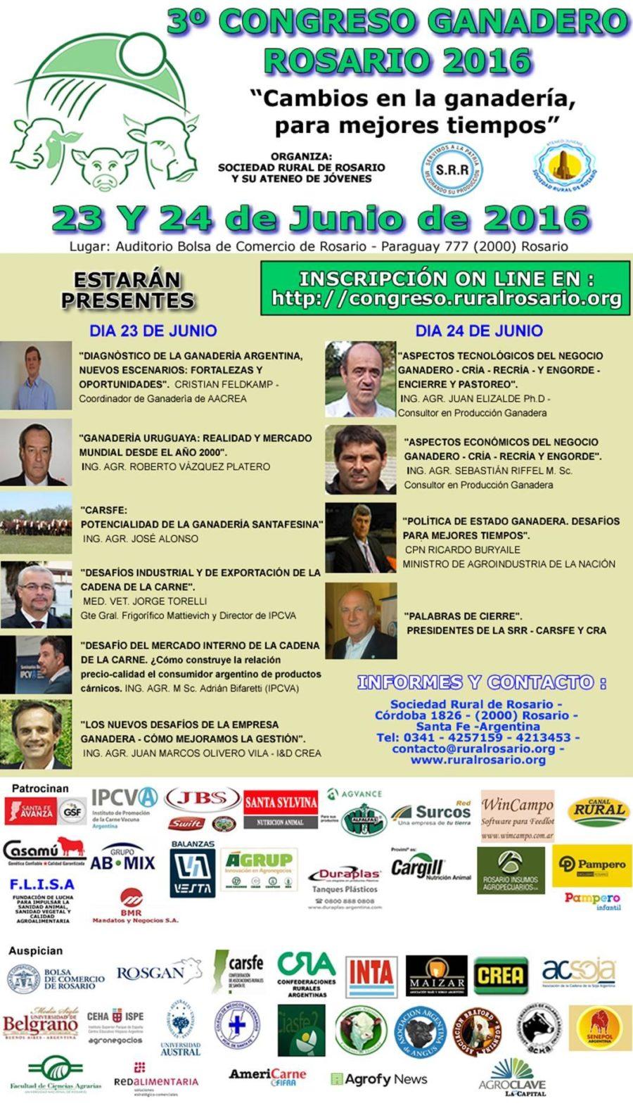 3er. Congreso Ganadero Rosario 2016