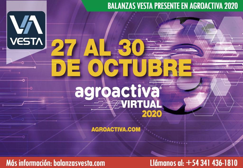 Balanzas Vesta en Agroactiva 2020