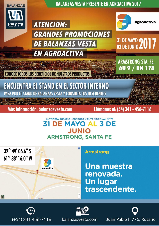 agroactiva 2017 balanzas vesta