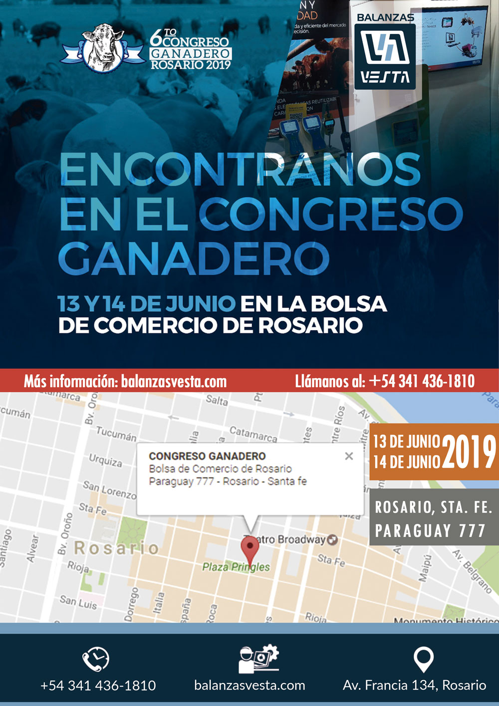 balanzas vesta en congreso ganadero de rosario 2019